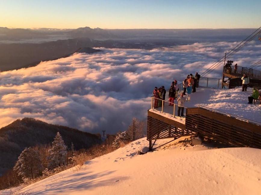 北志賀高原統一スキー場開き